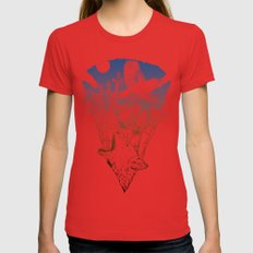 Joshua Tree Womens Fitted Tee Red SMALL