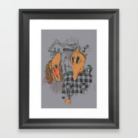 Beetle Gothic - A portrait of the recently deceased Framed Art Print