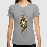 Nature Thrives Womens Fitted Tee Tri-Grey SMALL