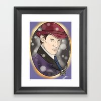 The Doctor and The Snow Framed Art Print