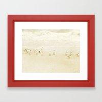 Vanilla Beach Framed Art Print