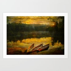Canoe Trip Art Print