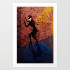 The Catwoman Art Print