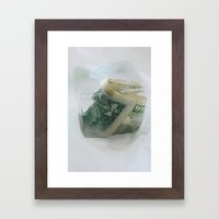 1 frozen dollar Framed Art Print