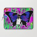 Dachshund Butterfly Wiener Dog by RonkyTonk Laptop Sleeve