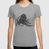 Octopus Womens Fitted Tee Tri-Grey SMALL