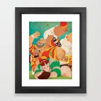 Rugbear Framed Art Print