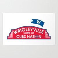 Wrigleyville Art Print