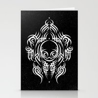 Alien Tribal Tattoo - Wh… Stationery Cards
