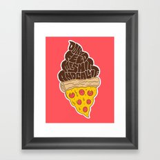 Don't Feed Me Shit and Call it Pizza Framed Art Print