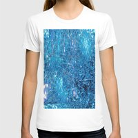 Broken and blue Womens Fitted Tee White SMALL