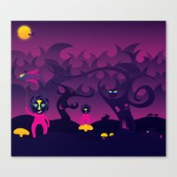 Night Of The Forest Spir… Canvas Print
