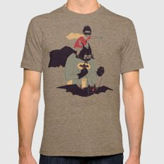 to the batmobile! Mens Fitted Tee Tri-Coffee SMALL