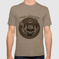 Mario Bros Fan Art Mens Fitted Tee Tri-Coffee SMALL