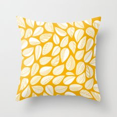 Yellow leaf Throw Pillow