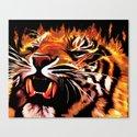 Fire Power Tiger Canvas Print