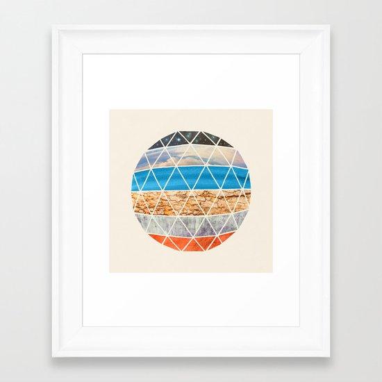 Eco Geodesic  Framed Art Print