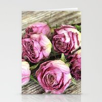 Dried Pink Roses Stationery Cards