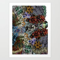 Psychedelic Botanical 15 Art Print