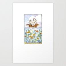 Ship and Sea Art Print