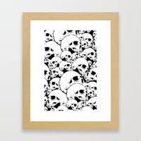 Skull Pile 2 Framed Art Print