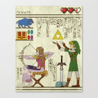 Hero-glyphics: Hyrule Hi… Canvas Print