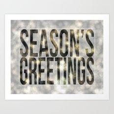 Season's Greetings Art Print