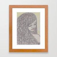 Lovely Girl Framed Art Print
