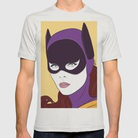 60s Batgirl Mens Fitted Tee Silver SMALL