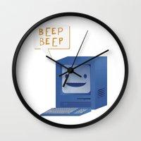Beep Beep Wall Clock