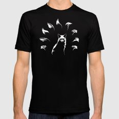 Nine-Tailed Fox, Kitsune Black SMALL Mens Fitted Tee