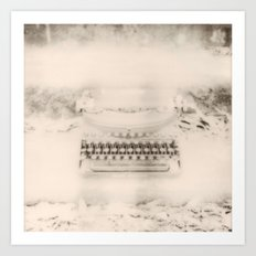 For the Love of Typewriters Art Print