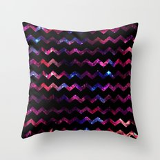 Galaxy Chevron Throw Pillow