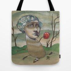 RED APPLE RACCOON Tote Bag