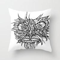 Face Flow Line Throw Pillow