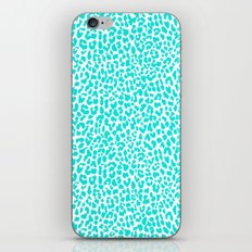 Turquoise Leopard iPhone & iPod Skin