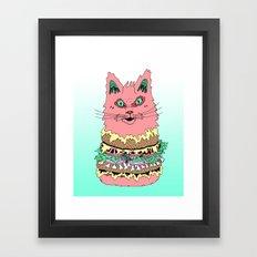 BURGERCAT Framed Art Print