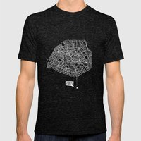 Spidermaps #1 Light Mens Fitted Tee Tri-Black SMALL
