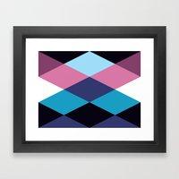 Diamond Pattern 3 Framed Art Print