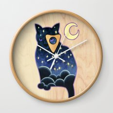 Ouija Cat Wall Clock