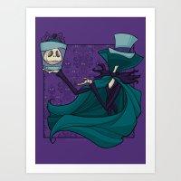 Hatbox Jack Art Print
