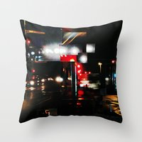 CALZADA DE NOCHE Throw Pillow