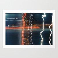 Movement with Light Art Print
