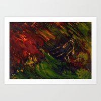 Red storm Art Print