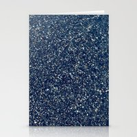 Black Sand II (Blue) Stationery Cards