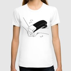 Never Let Me Go Womens Fitted Tee White SMALL