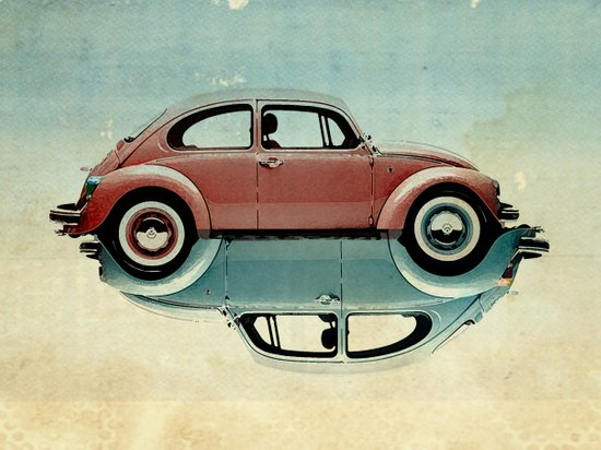 vw  ying and yang Art Print