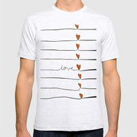 Lovelines Mens Fitted Tee Ash Grey SMALL