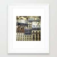 Paris Rooftop #2 Framed Art Print