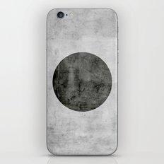 Concrete with black circle iPhone & iPod Skin